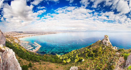 water surface: Panoramic view over the Sella del Diavolo and Cagliari