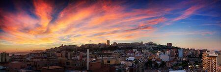 Colorful sunset in Cagliari photo