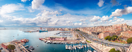 Panoramic view of Cagliari city in a beautiful sunny day