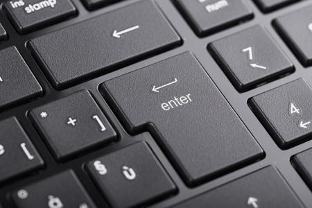 enter button: Computer keyboard focused on enter button Stock Photo