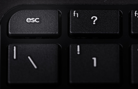 esc: Keyboard with esc utton highlighted