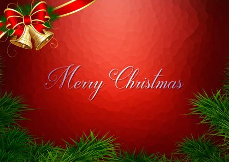 christmas card: Christmas card with Christmas decorations