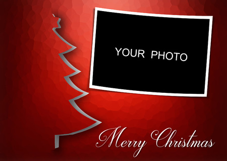 Christmas card with frame space for apply your photo - horizzontal