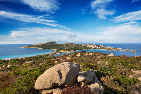 capo: View of the far north coast of Sardinia, Capo Testa.