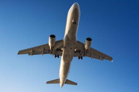 Passenger plane on the sky