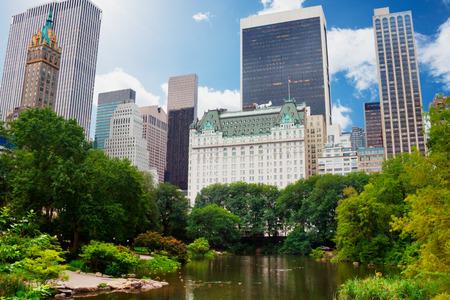 센트럴 파크, 플라자 호텔 근처의 뉴욕시 스톡 콘텐츠