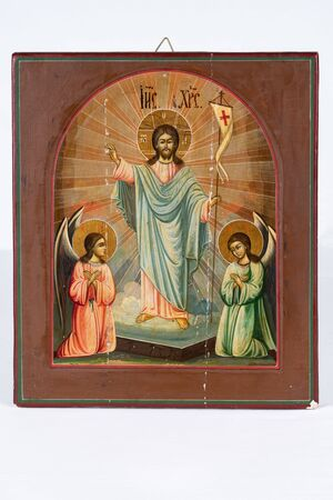 Old russian orthodoxal christian icon.