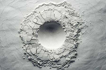 Texture background of an impact crater. Background usable for still life photography. 写真素材