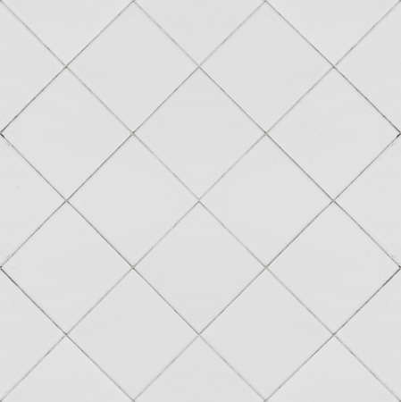 White tiles seamless pattern texture Stock Photo
