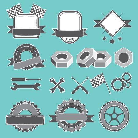 auto service: Set to create a badge, emblem or element for mechanic, garage, car repair, auto service