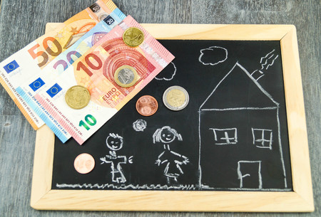 Housing Child benefit Stockfoto