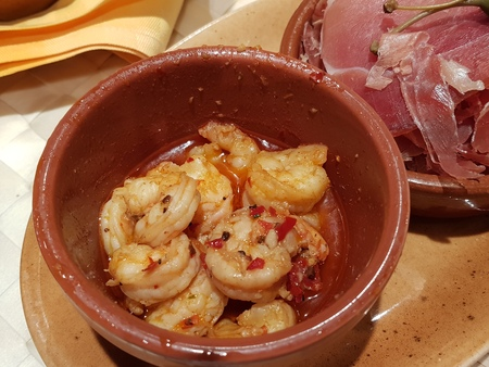 Gambas Al Ajillo - tapas traditional spanish food