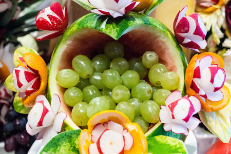 Food carving examples Stock Photo