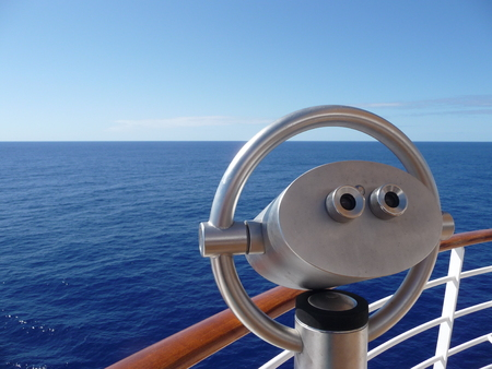 Binocular of a cruise ship