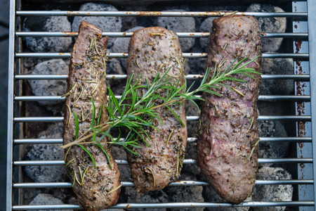 grilled lamb steaks
