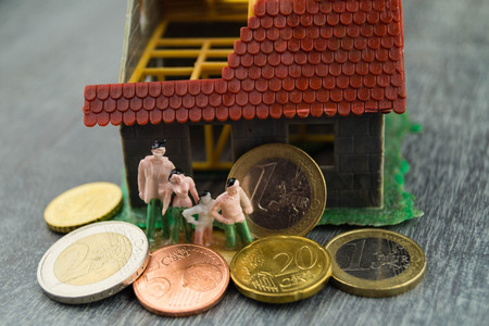 child benefit to build and finance a home Stok Fotoğraf