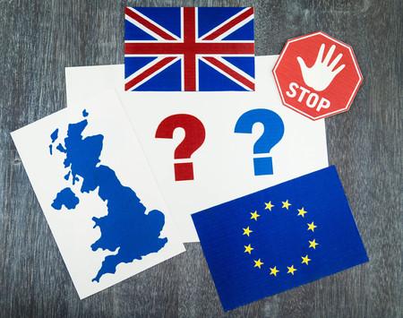 Brexit - Great Britain wants to leave the european community 版權商用圖片