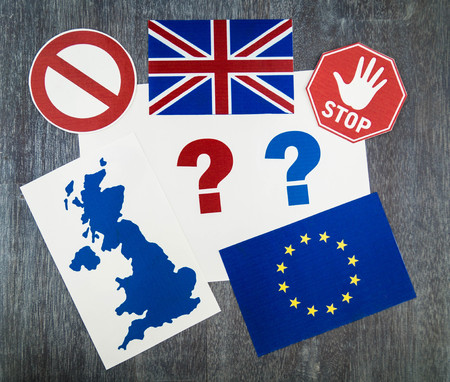Brexit - Great Britain wants to leave the european community Stockfoto