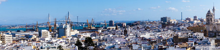 The City of Cadiz Spain Andalusia from the perspective of different viewpoints