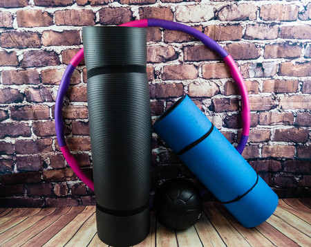 Sports Equipment for a perfect workout 版權商用圖片