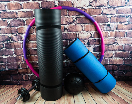 Sports Equipment for a perfect workout Stockfoto