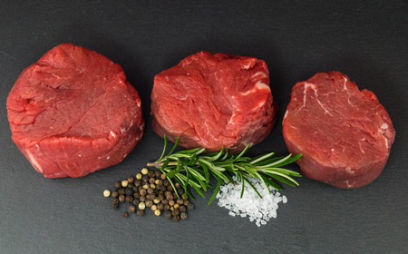 Finest beef with sea salt and peppercorns