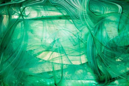 Abstract art with emulsion of oil paint in water