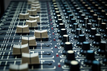 Professional mixing tool for a sound engineer in a music studio Imagens