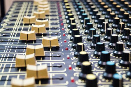 Professional mixing tool for a sound engineer in a music studio Stock Photo
