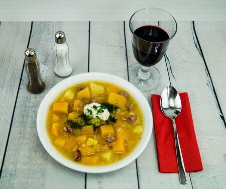 Soup of turnip rutaba brassica napus