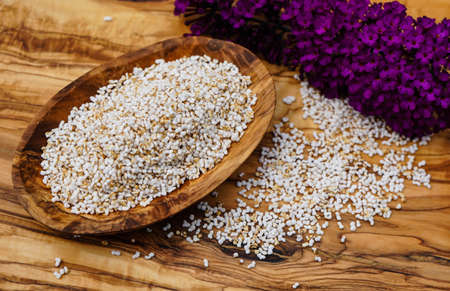Amaranth seed on a table 写真素材