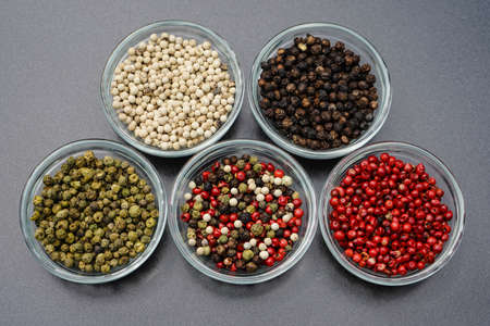 many peppercorns in different colors 写真素材