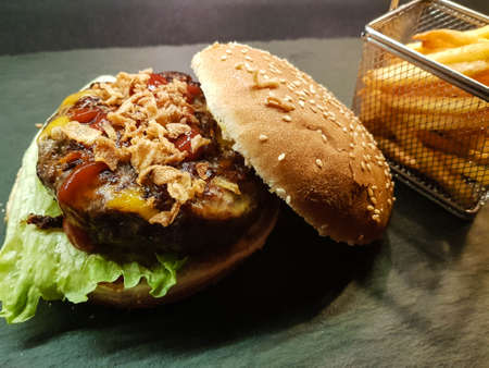 homemade chilly cheese burger patties