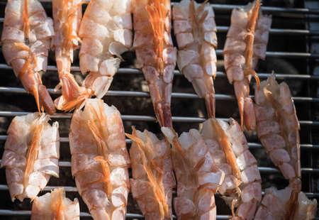 grilled argentina red king prawns 免版税图像