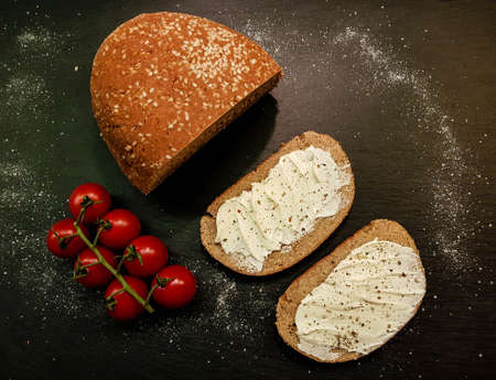 homemade low carb bread made from almond flour 免版税图像