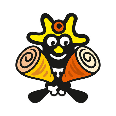 man eater: Branding identity corporate symbol isolated on white background Illustration