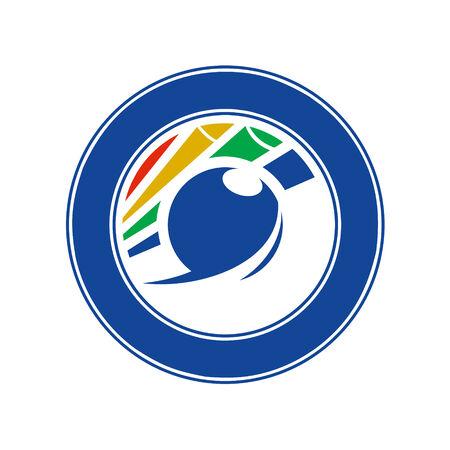 symbol sport: Branding Identit�t Corporate-Symbol auf wei�em Hintergrund