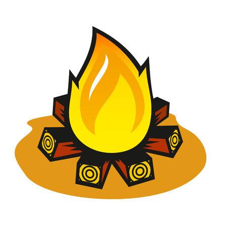 firewood: burning firewood stacked