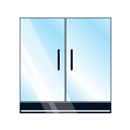 Doors, glass cabinet or glass showcase sign Vettoriali