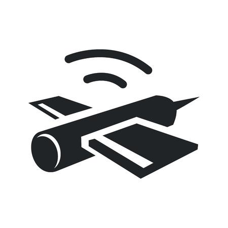 satellite transmitter: Identity corporate satellite symbol Isolated on white background Illustration