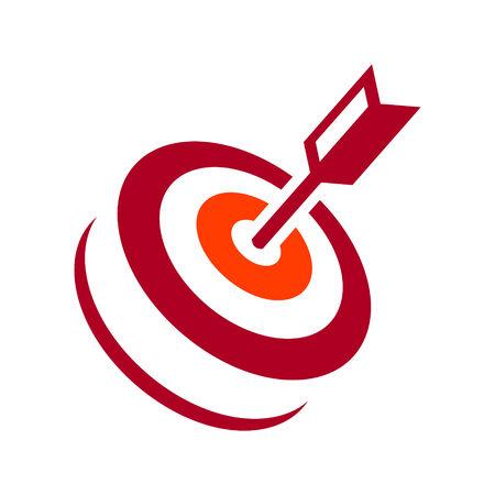 Identity corporate target symbol Isolated on white background Illustration