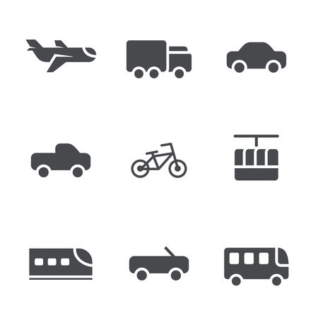 Types of vehicles for social mobility society Vector
