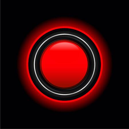 熱烈なアウトラインとスタイリッシュな赤いボタン