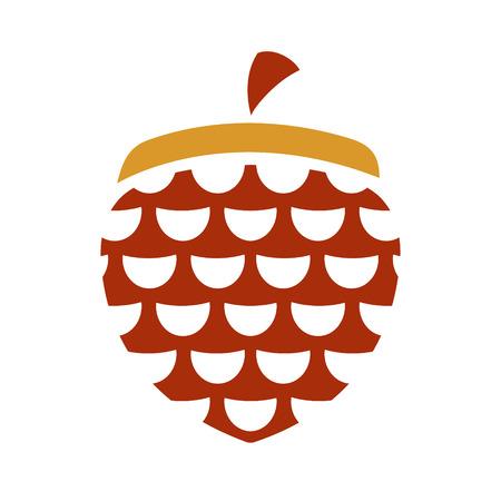 Branding identity corporate hazelnut symbol isolated on white background Vector