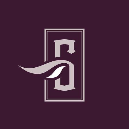 Branding identity corporate symbol isolated on dark background Ilustrace