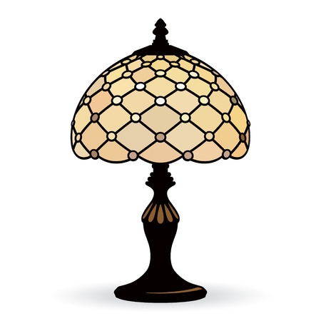 fixture: Occasional old lamp isolated on a white background Illustration