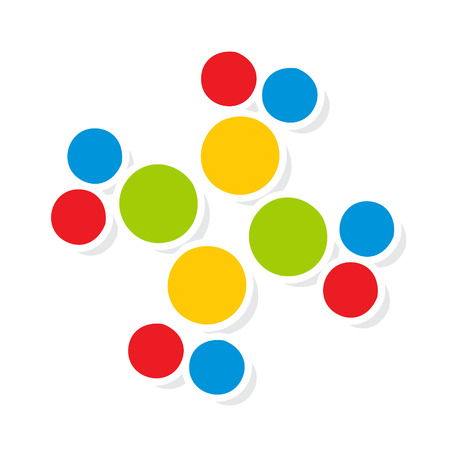 enlaces quimicos: Identidad de marca corporativa puntos s�mbolo aislado en el fondo blanco