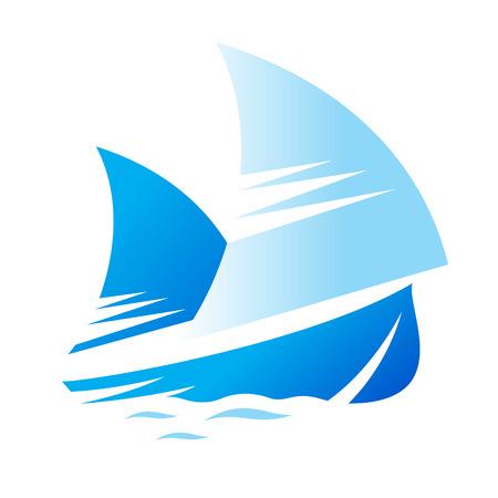 yacht isolated: Identidad de marca corporativa yate aisladas sobre fondo blanco