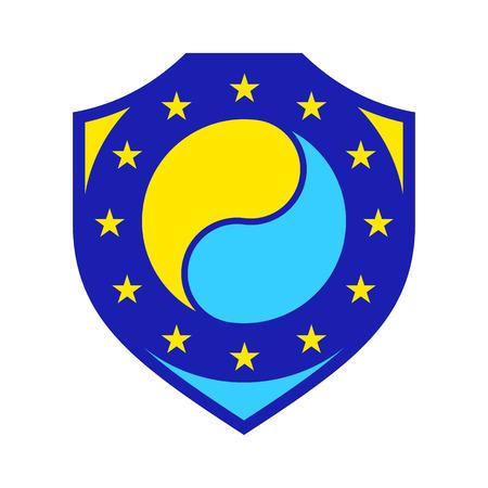 instability: Branding identity corporate Ukraine symbol isolated on white background
