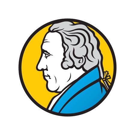 Branding identity corporate man symbol isolated on white background
